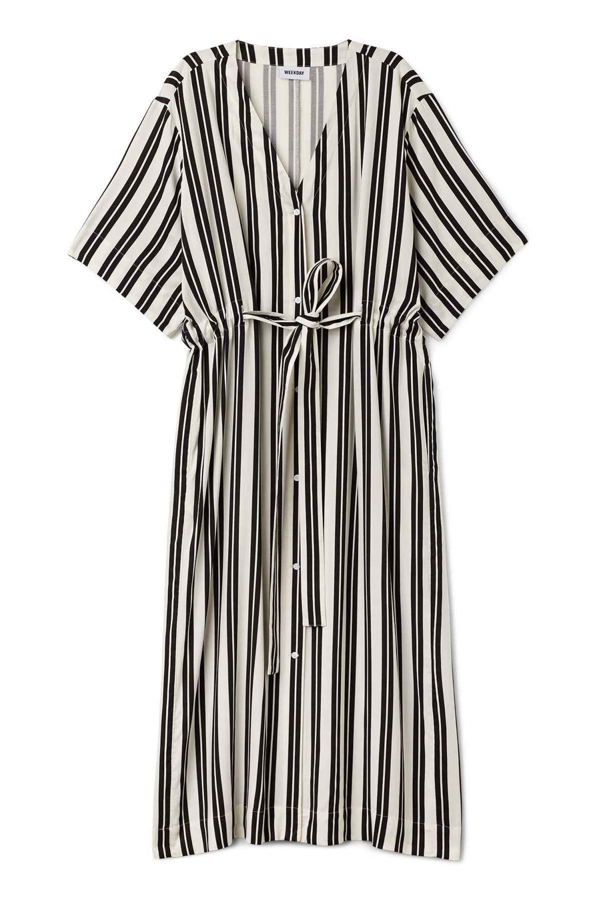 905d356f4bcd Front image of Weekday chalk shirt dress in black