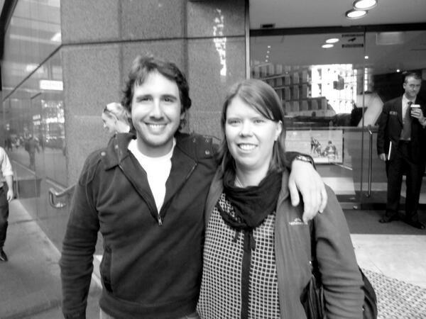 C Parker@MrsGroban276h Me and my mate @joshgroban #JGinOz