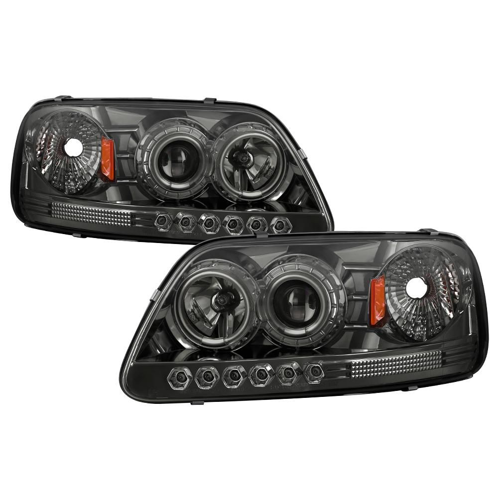 Spyder Auto Ford F150 97 03 Expedition 97 02 1pc Projector Headlights Ccflhalo Led Smoke Projector Headlights Car Ford Ford Trucks