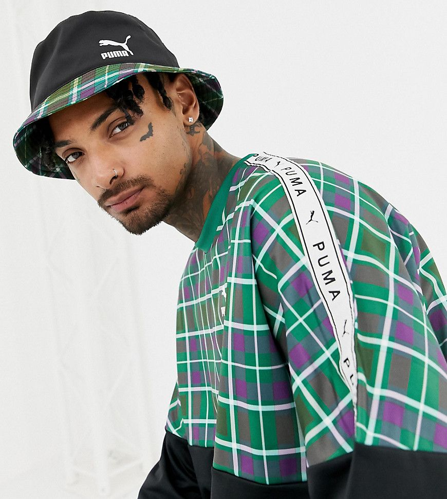 c4b7e5d13bbc1 PUMA CHECK BUCKET HAT IN GREEN EXCLUSIVE AT ASOS - GREEN.  puma ...