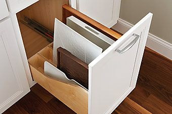 Pull-out Tray Divider   Schuler cabinets, Kitchen redesign