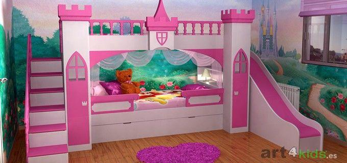 Castillo de princesa modelo berta - Cama princesa nina ...