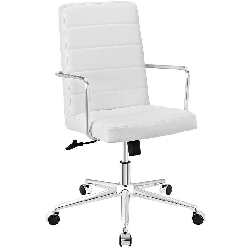 Cavalier highback office chair white white office
