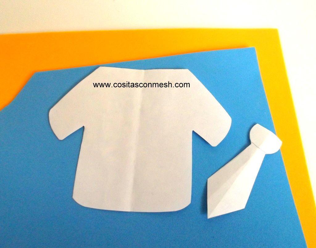 Molde camisa papá | Manualidades divertidas, Manualidades, Blog de ...