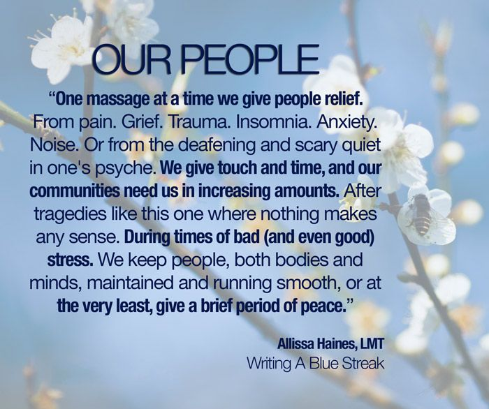 This Could Be A Universal Mission Statement For Massage Therapists