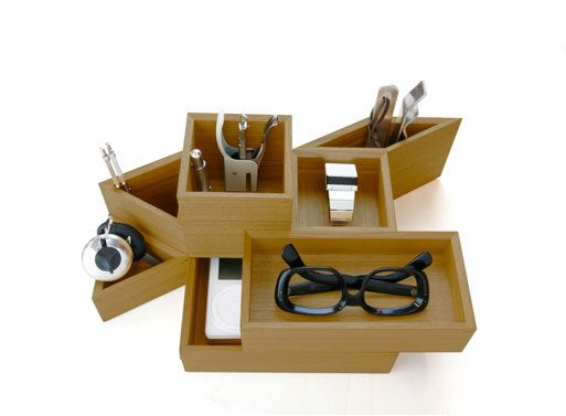 Magnetic wooden boxes
