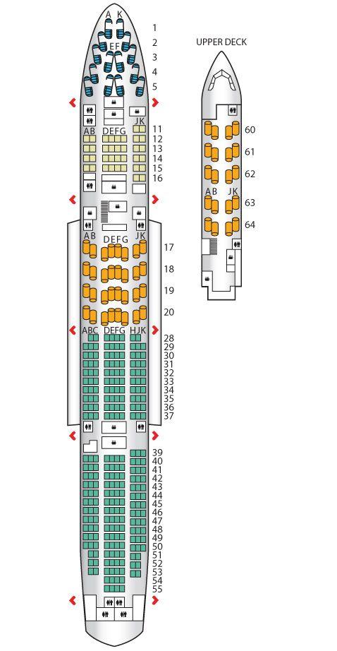 B747 400 Mid J British Airways Airline Seats Business Travel