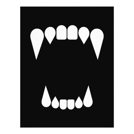 Vampire Fangs Wolf Fangs Sharp Teeth Grrr Flyer Design