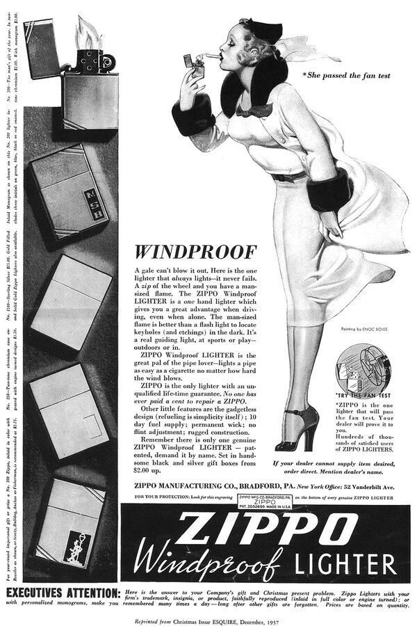 Looking Like A Rare 1937 Version Of A Zippo Lighter Advertisement Zippo Lighter Vintage Advertisements Old Ads