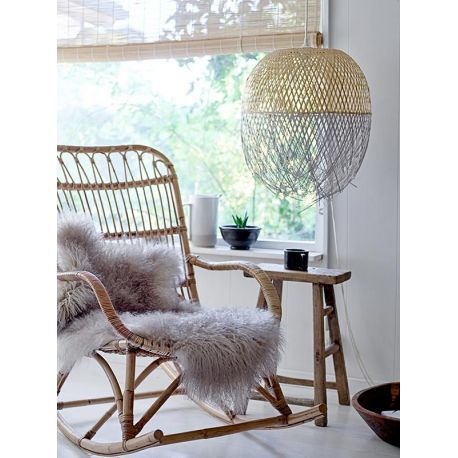 Suspension bamboo woven Bloomingville. - The chandelier Gan has everything to please ...