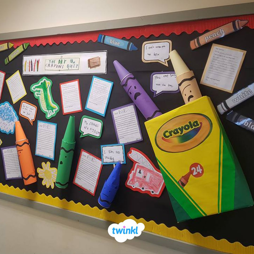 The Day The Crayons Quit Display! We Love Amanda's