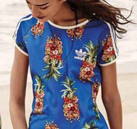 038a64b4d48 Adidas Originals Farm Pack Frutaflor T-Shirt Pineapple Floral ...