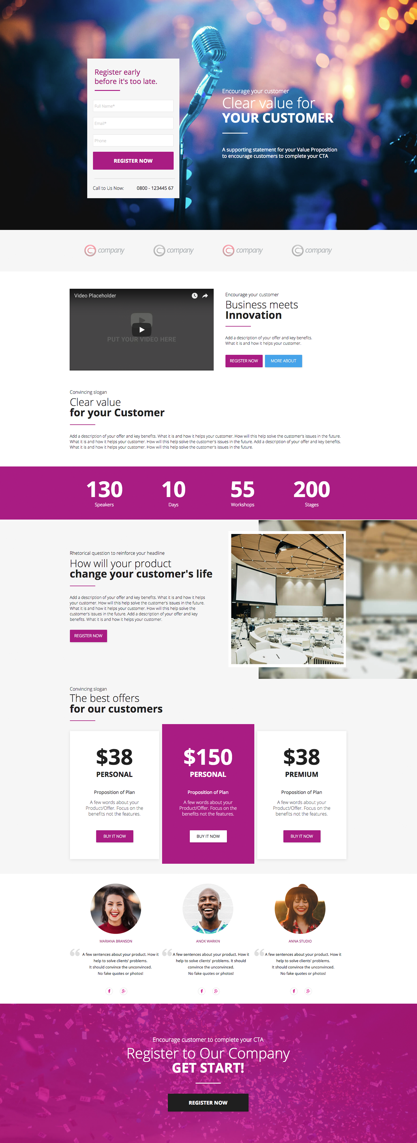 Website templates party time event company planner entertainment.