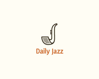 The Icon Of The Daily Jazz Logo Fuses A Newspaper With A Saxophone Designed By James Waldner Canada Logo Design Best Logo Design Branding Design Logo
