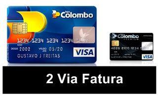 2 Via Fatura Lojas Colombo Visa Nacional Http Www 2viacard Com