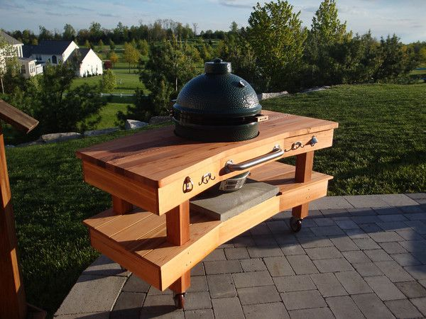 Big Green Egg Table Cedar Iii Grilling And Barbecue