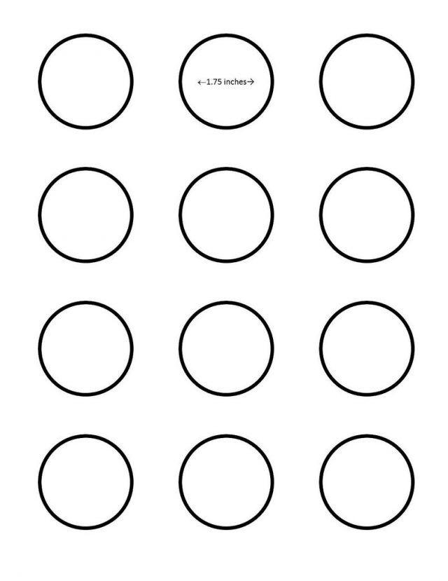 Macaron 2 Inch Circle Template Google Search