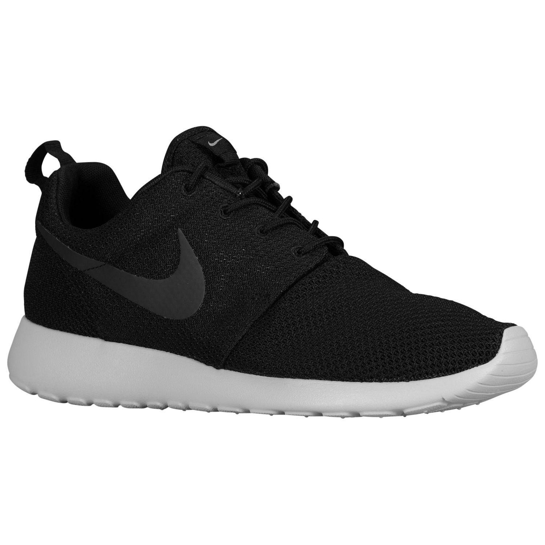 vente boutique pour 2018 Nike Roshe Run - Mens Noir / Gris Moyen / Gamma Gris / Bleu Hyper prix de gros images de sortie A5C1Aiidcf