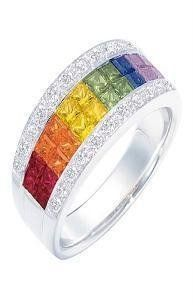 rainbow ring - Rainbow Wedding Rings