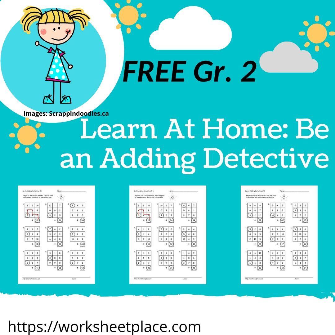 Predownload: Be An Adding Detective 2nd Grade Math 2nd Grade Math Worksheets Numeracy Activities [ 1080 x 1080 Pixel ]