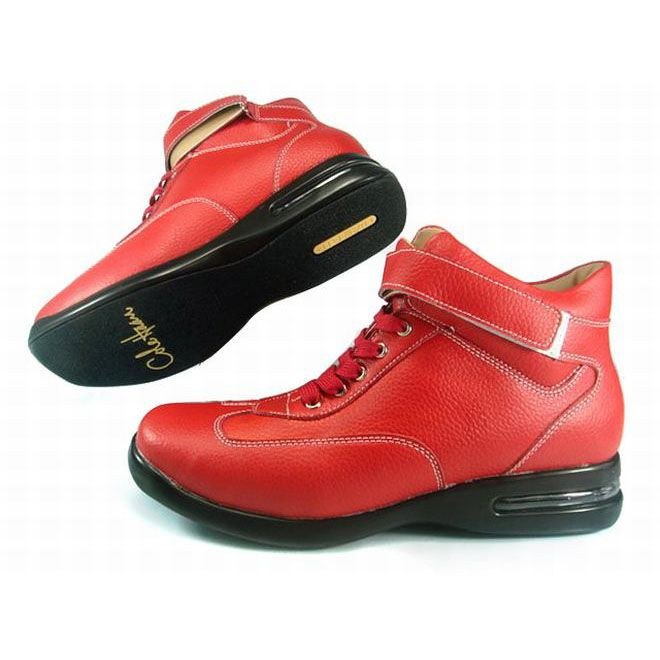 cole haan air conner boots red