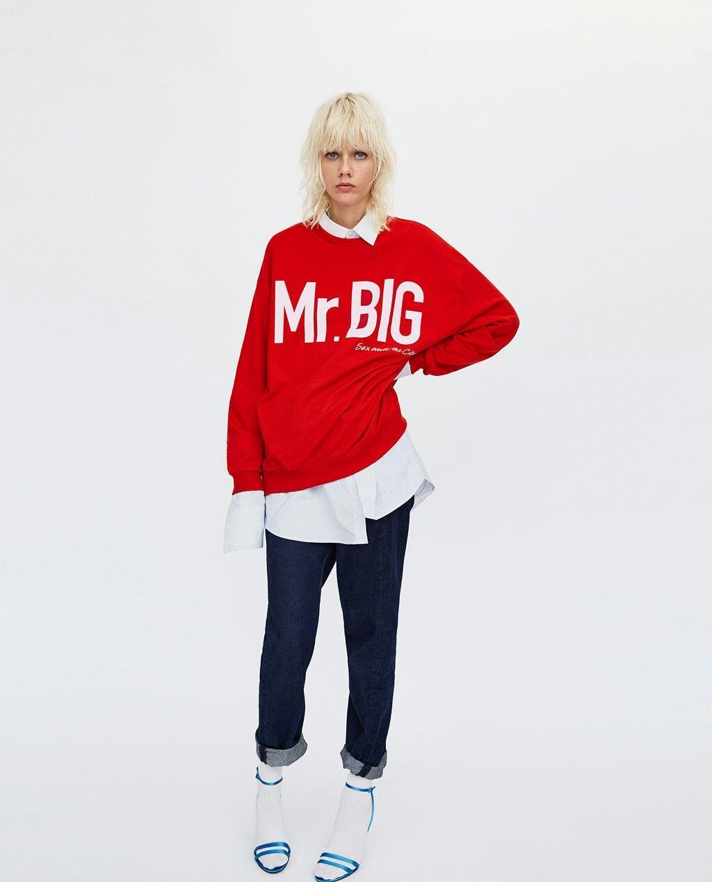 4846c412 Mr. Big sweatshirt Zara SATC | Things to wear | Sweatshirts, Zara ...