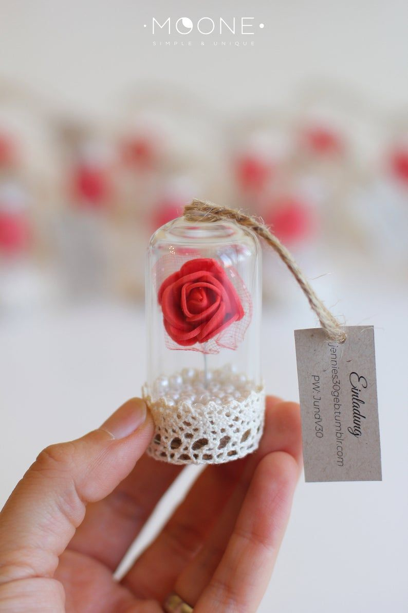 10pcs Red Rose Dome Favors Beauty And The Beast Favors Etsy Rose Dome Red Wedding Favors Beauty And The Beast Wedding Theme