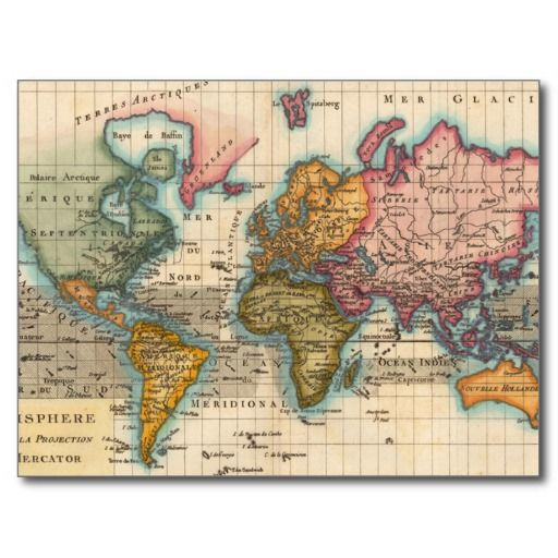 Vintage world map postcard special promotion and yearbooks vintage world map postcard gumiabroncs Gallery