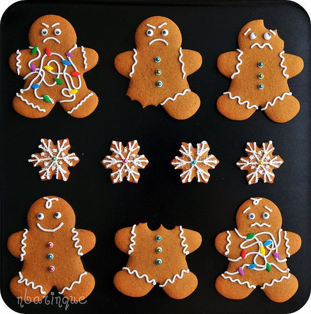PASTRY CUTTER EMBELLISHMENTS Novelty Craft Christmas Food Gingerbread Not Button