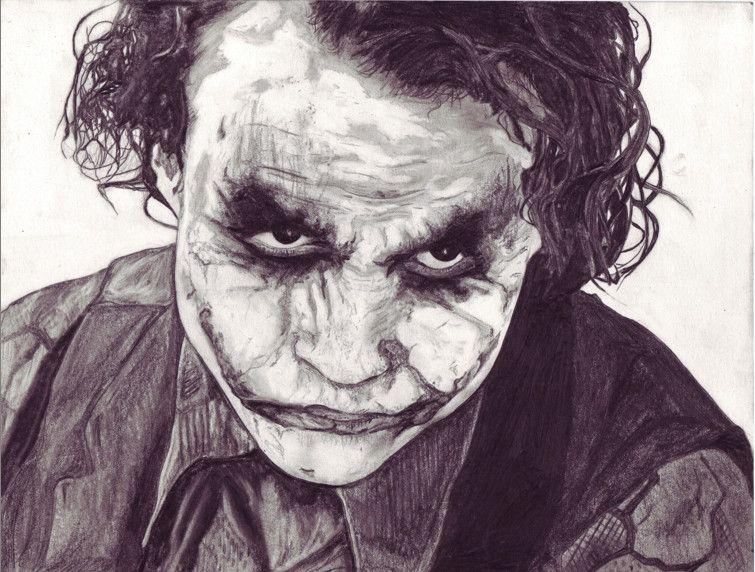 Joker Scribble Drawing : El guason en imagenes joker and comic
