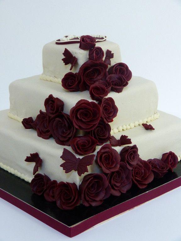 Marzipanblumen Hochzeitstorte Hochzeitstorten Marzipanblumen