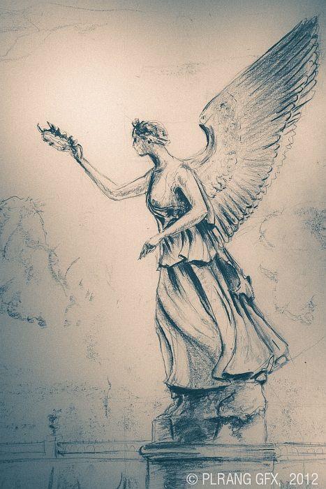 Greek - Pheme - goddess of fame and gossip | Greek And Roman