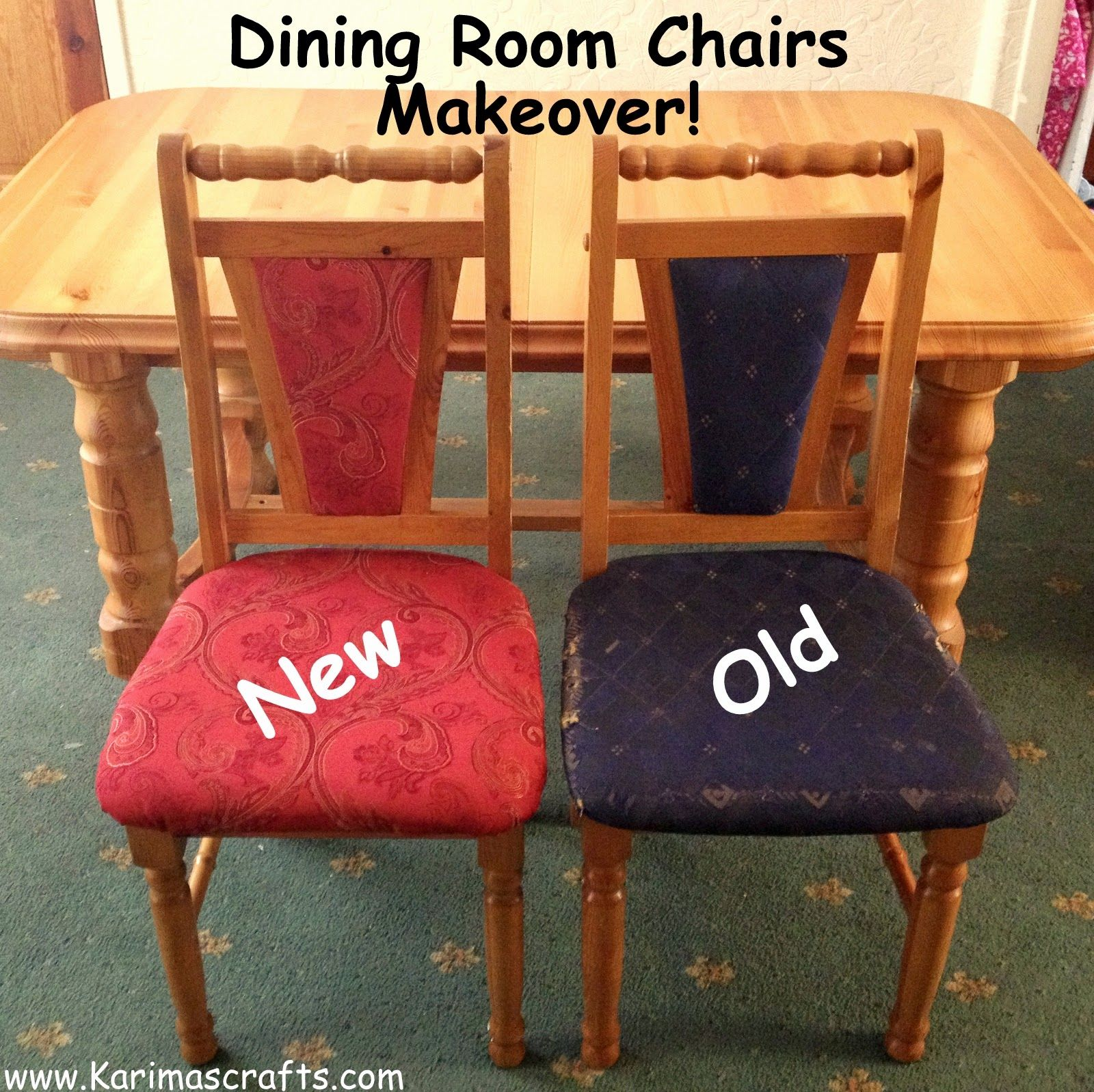 Tremendous Dining Chairs Reupholstered Using Cheap Charity Shop Curtain Pdpeps Interior Chair Design Pdpepsorg