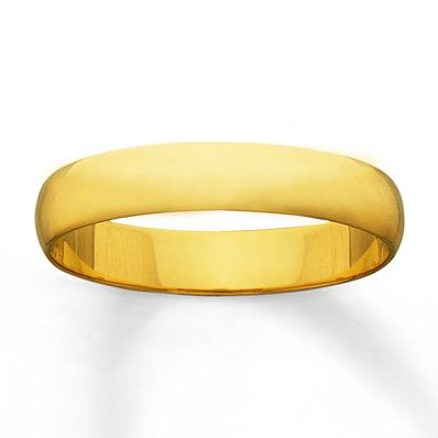 Men S Wedding Band 14k Yellow Gold 4mm 14k Yellow Gold Wedding Band Wedding Bands Mens Wedding Bands