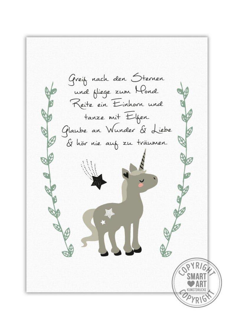 Einhorn Smart Art Kunstdrucke Geschenk Poster Deko Bild