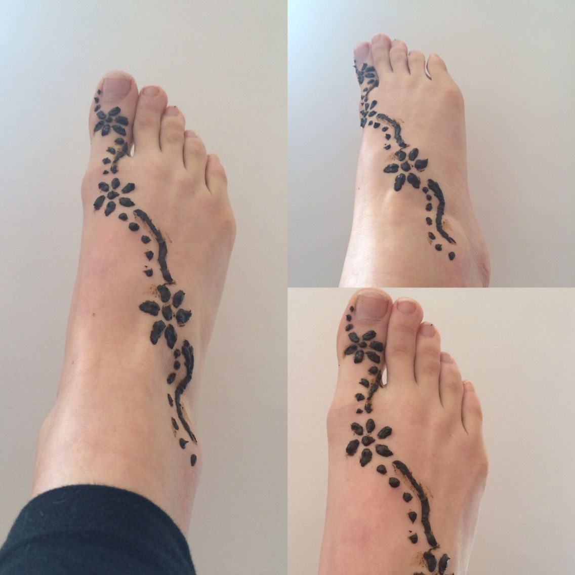 Simple Henna Tattoo Designs For Feet: EASY Henna Design For Beginners! Takes 10-15 Mins