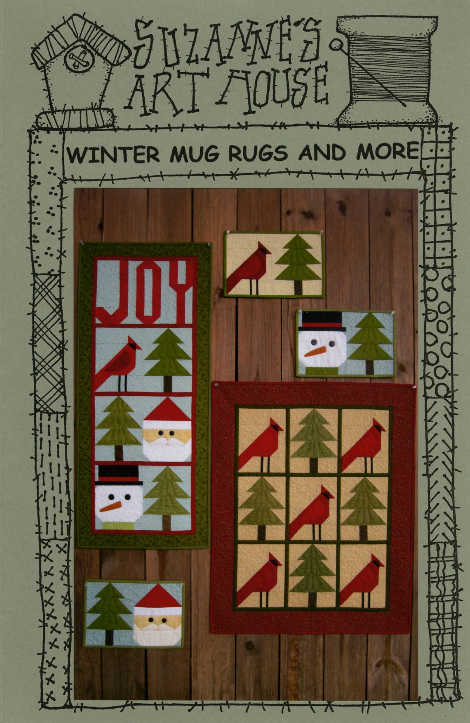 Winter Mug Rugs & More By Wenzlick, Suzanne - Hanging Joy 16in x ...