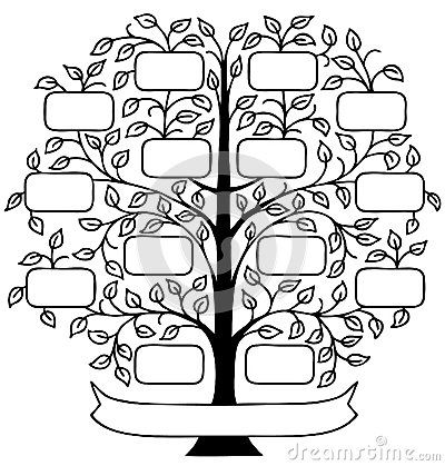 Family tree stock photos images pictures 55 004 for How to draw a family tree template