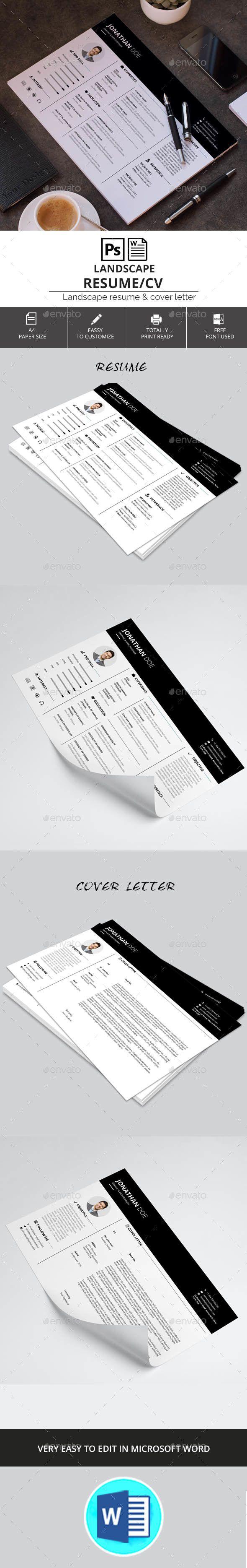 Landscape Resume/CV | Pinterest | Nota