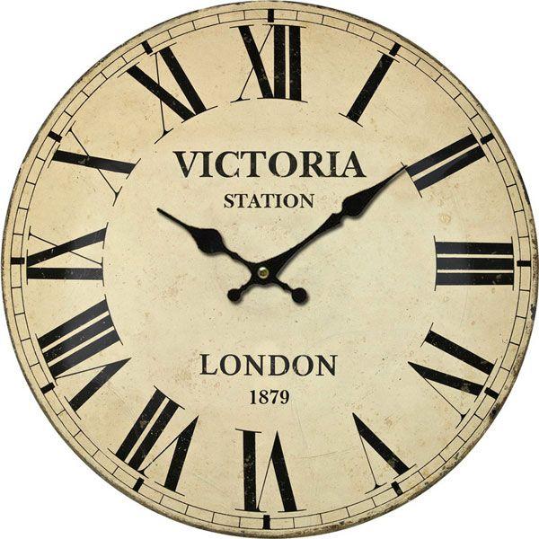 horloge murale victoria station horloges pinterest horloge horloge murale et pendule. Black Bedroom Furniture Sets. Home Design Ideas