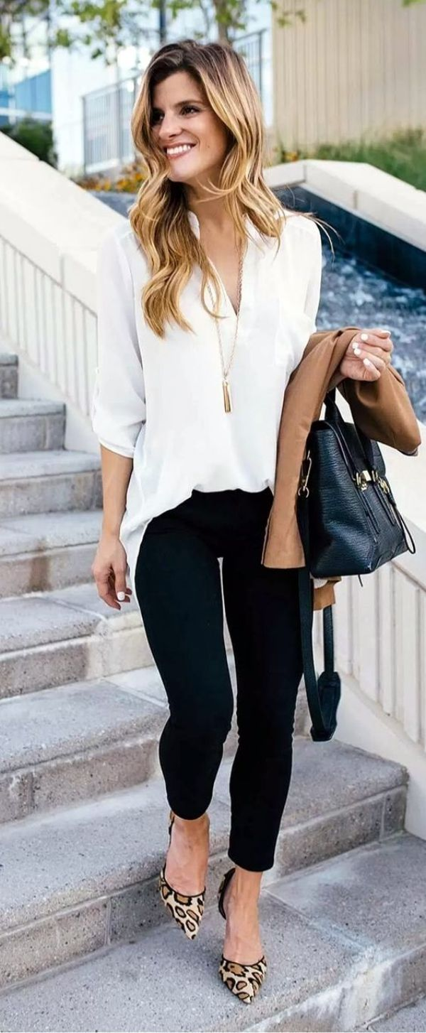 40 Outfits That Will Make You Younger Casual Work Outfit Summer Summer Work Outfits Casual Work Outfits [ 1454 x 600 Pixel ]