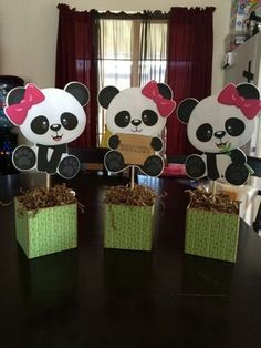 Baby Shower Parties · Panda Centerpieces   Google Search