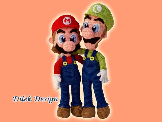 Amigurumi Super Mario and Luigi Crochet Patterns – FREE AMİGURUMİ ... | 428x570