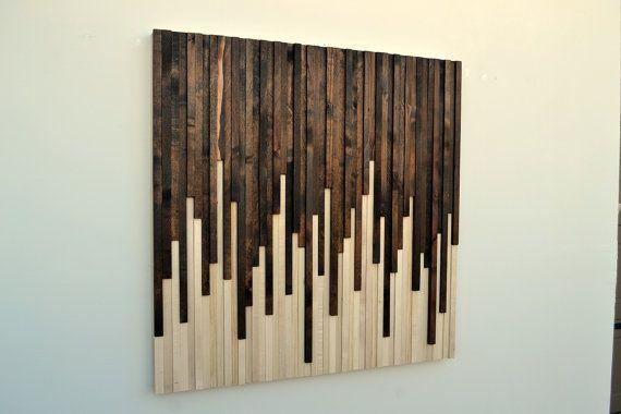 Wall Art - Wood Wall Art - Rustic Wood Sculpture Wall Installation - pared de madera