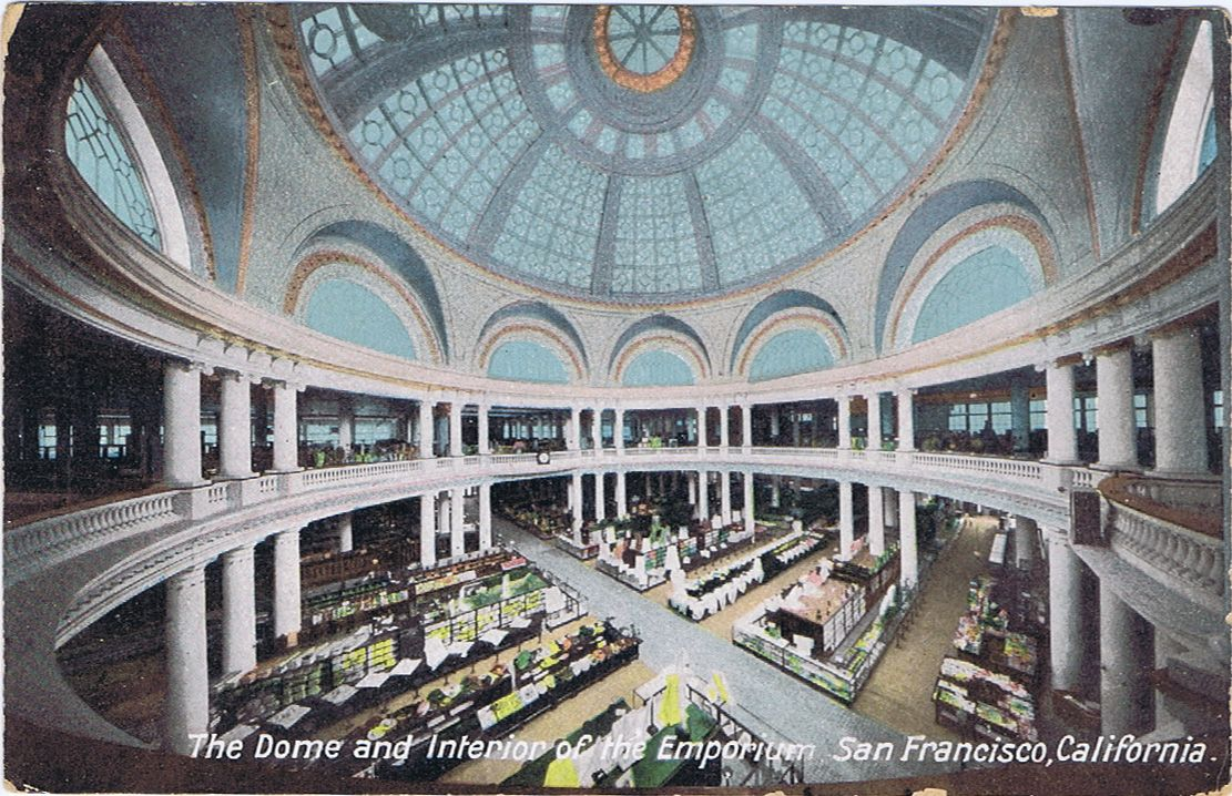 The large central dome of the Emporium Department Store on Market ...