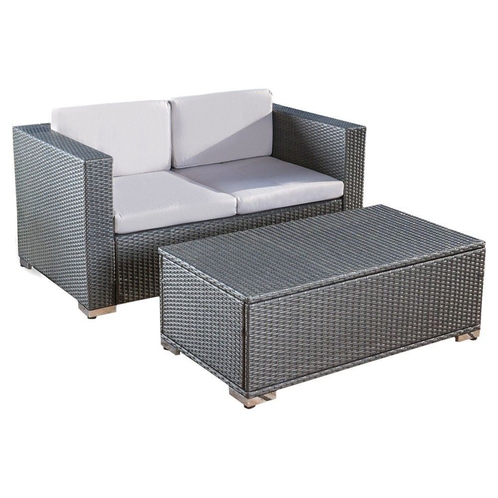 Best Christopher Knight Home Florence 2 Piece Outdoor Sofa And 640 x 480