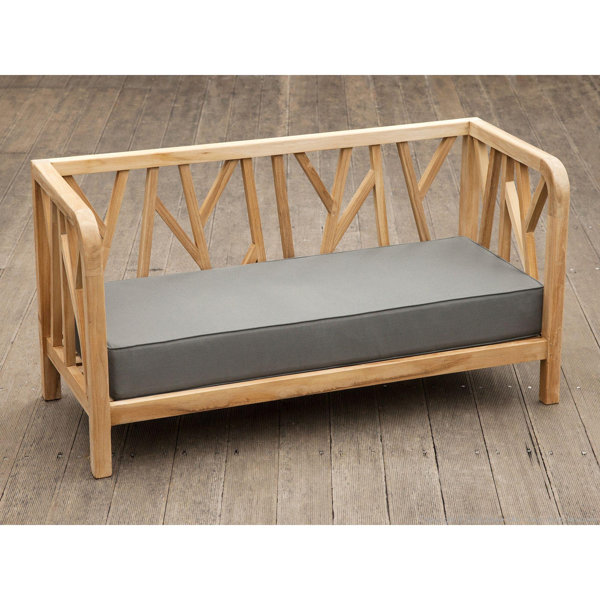 Canapé de jardin Teck Brut longueur 140cm COSTOLA Ermanno G ...