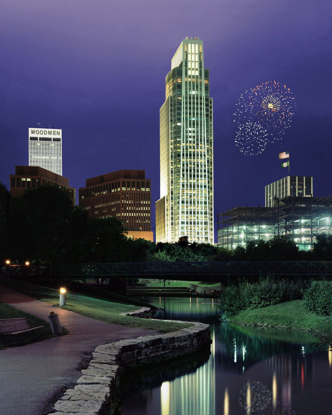 Downtown Omaha: Omaha Skyline.I Want To Go See This Place One Day.Please