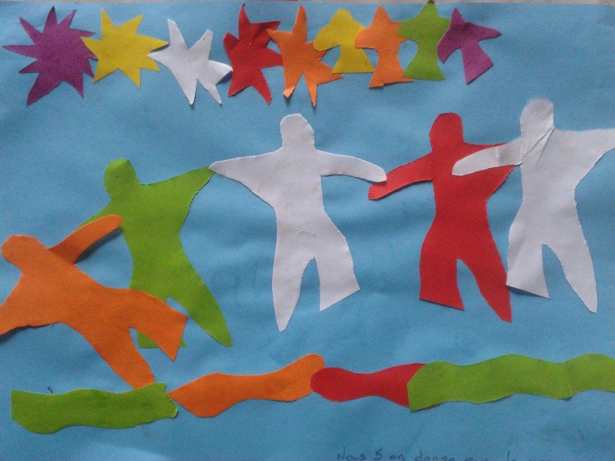 Activité arts pour enfants : collages façon Matisse
