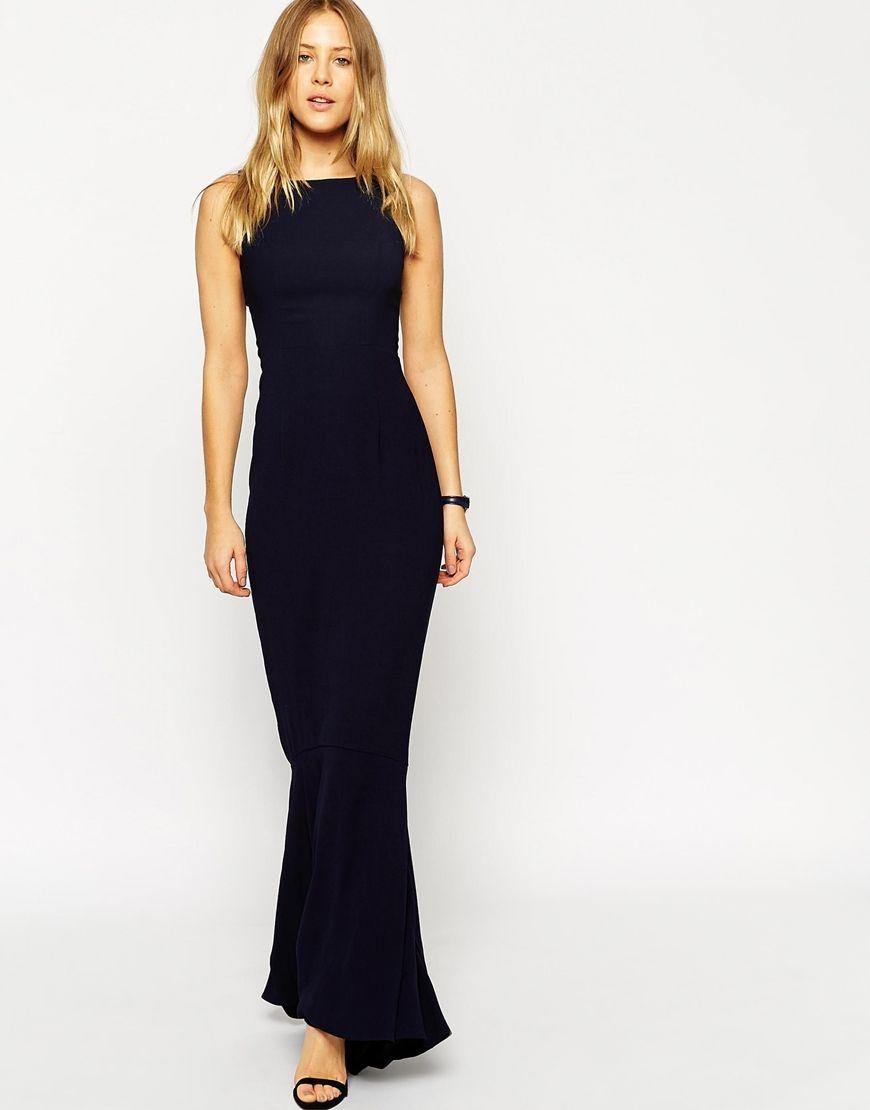 Asos Maxi Dress With Fishtail Hem Wear Pinterest Fishtail